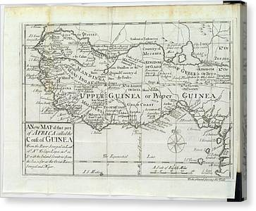 Map Of Upper Guinea Canvas Print by British Library