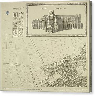 Map Of Westminster In The City Of London Canvas Print by British Library