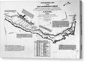 Map Oregon Trail, 1846 Canvas Print by Granger