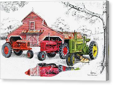 Maple Grove Farms Canvas Print by Larry Johnson