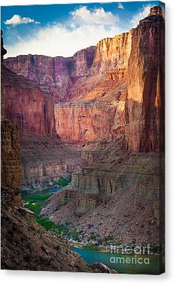 Colorado River Canvas Print featuring the photograph Marble Cliffs by Inge Johnsson