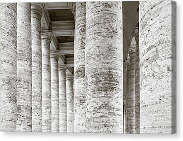Marble Roman Columns Canvas Print by Susan Schmitz