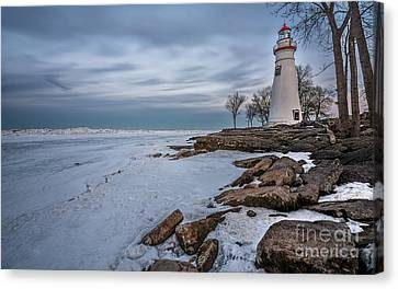 Marblehead Lighthouse  Canvas Print by James Dean