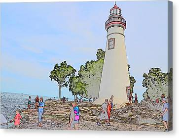 Marblehead Lighthouse Canvas Print by Jim Steinmiller