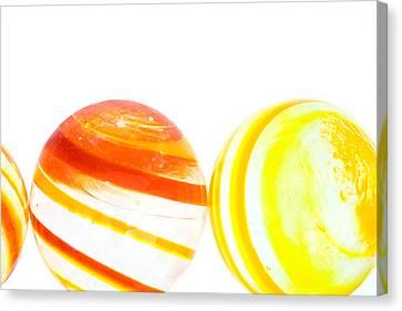 Marbles Canvas Print by Natalie Kinnear