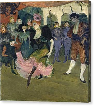 Marcelle Lender Dancing The Bolero In Chilperic Canvas Print by Henri de Toulouse-Lautrec