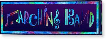 Marching Band Canvas Print by Jenny Armitage