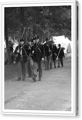 Marching Off To Battle Canvas Print by Sara  Raber