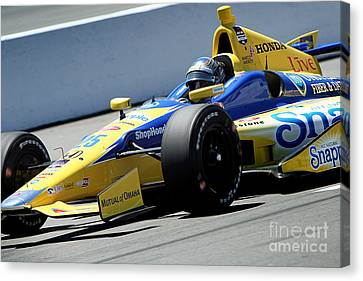 Marco Andretti Pit Lane Canvas Print by Bryan Maransky
