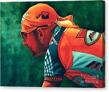 Marco Pantani The Pirate Canvas Print by Paul Meijering