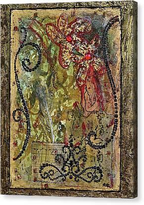 Mardi Gras Canvas Print by Bellesouth Studio