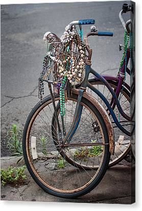 Mardi Gras Bicycle Canvas Print by Brenda Bryant