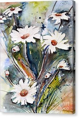 Marguerites Canvas Print by Ismeta Gruenwald