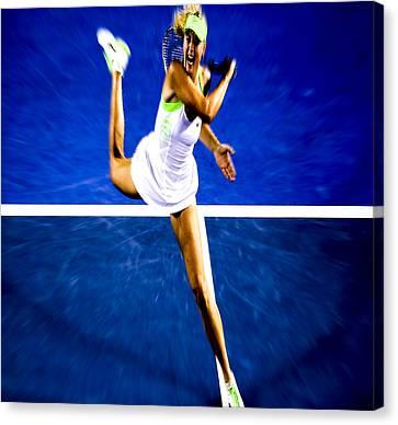 Maria Sharapova In A Zone Canvas Print by Brian Reaves