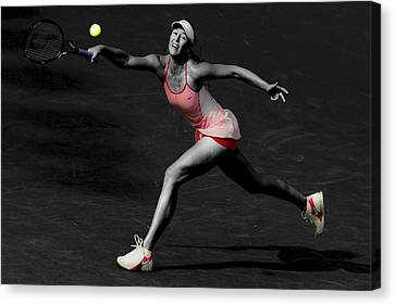 Maria Sharapova Reaching Out Canvas Print by Brian Reaves