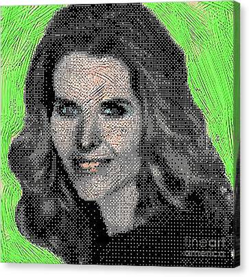 Maria Shriver Canvas Print by Gerhardt Isringhaus