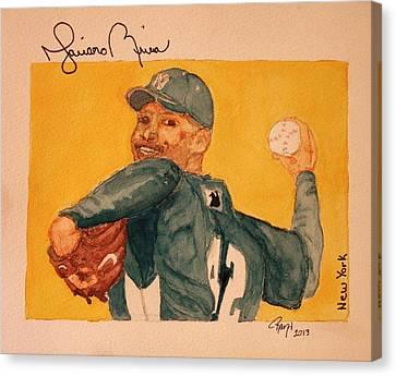 Mariano Rivera  Canvas Print by Rand Swift