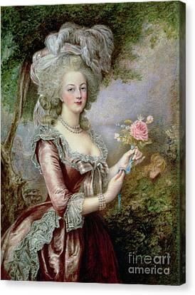 Marie Antoinette After Vigee Lebrun Canvas Print by Louise Campbell Clay