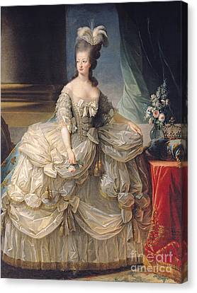 Marie Antoinette Queen Of France Canvas Print by Elisabeth Louise Vigee-Lebrun