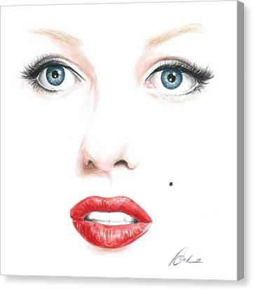 Marilyn Canvas Print by Bruce Lennon