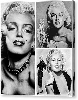 Marilyn Collage Canvas Print by Andrew Read