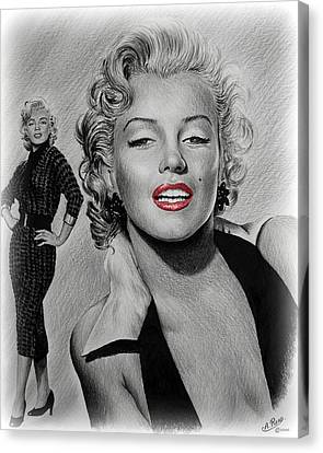 Marilyn Hot Lips Version Canvas Print by Andrew Read