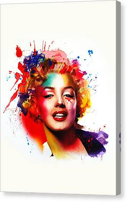 Marilyn Canvas Print by Isabel Salvador