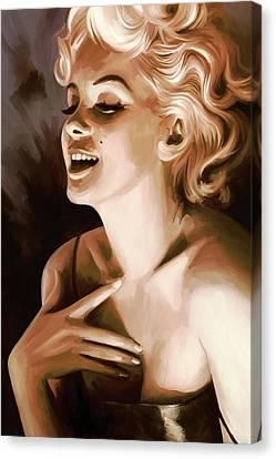 Marilyn Monroe Artwork 1 Canvas Print by Sheraz A