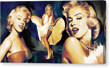 Marilyn Monroe Artwork 3 Canvas Print by Sheraz A