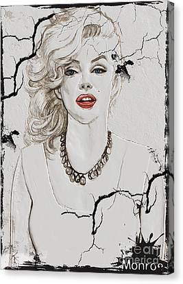 Marilyn Monroe Broken Wall Canvas Print by Creativehelper