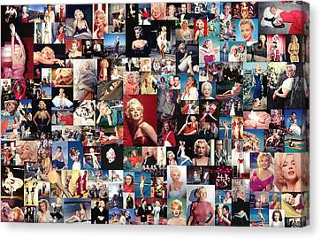 Marilyn Monroe Collage Canvas Print by Taylan Soyturk