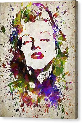Marilyn Monroe In Color Canvas Print by Aged Pixel