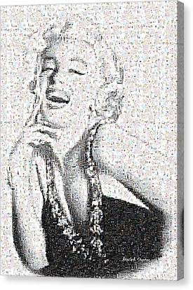 Marilyn Monroe In Mosaic Canvas Print by Angela A Stanton