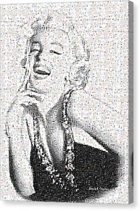 Marilyn Monroe In Mosaic Canvas Print by Angela A Stanton