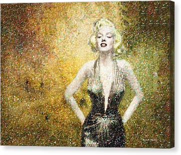Marilyn Monroe In Points Canvas Print by Angela A Stanton