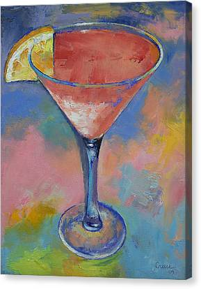 Marilyn Monroe Martini Canvas Print by Michael Creese
