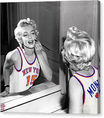 Marilyn Monroe Nyk Canvas Print by Petros Graphic Design