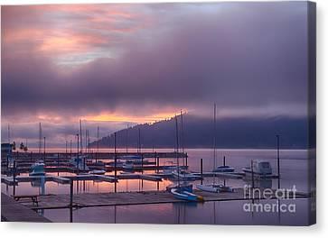 Marina Aglow Canvas Print by Idaho Scenic Images Linda Lantzy