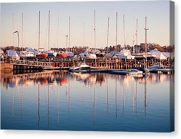 Marina Colors Canvas Print by Lee Costa