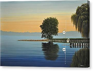 Marina Morning Canvas Print by Kenneth M  Kirsch