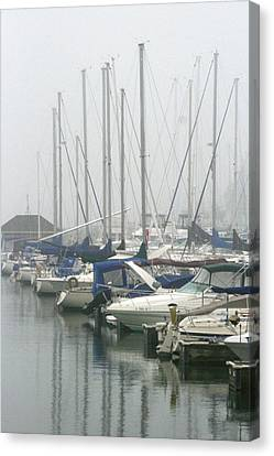 Marina Reflections Canvas Print by Kay Novy