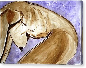 Marina. Canvas Print by Shlomo Zangilevitch
