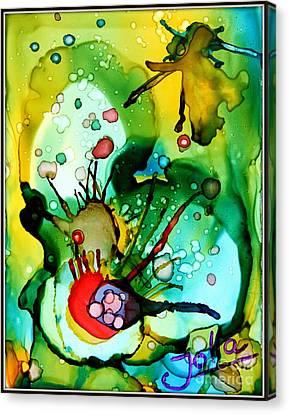 Marine Habitats Canvas Print by Jolanta Anna Karolska