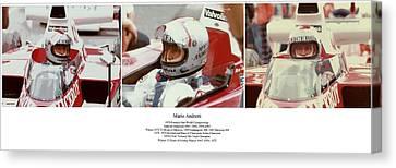 Mario Andretti Canvas Print by Don Struke