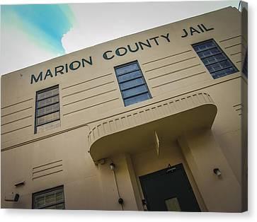 Marion County Jail Canvas Print by Jon Stephenson
