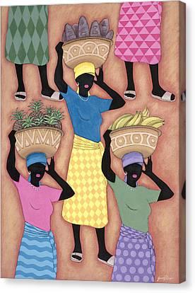 Market Day Canvas Print by Sarah Porter