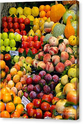 Market Time II Canvas Print by Sue Melvin