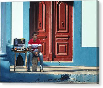 Market Trends.. Canvas Print by A Rey