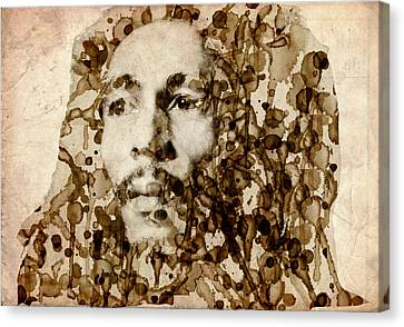 Marley In Sepia Canvas Print by Bekim Art