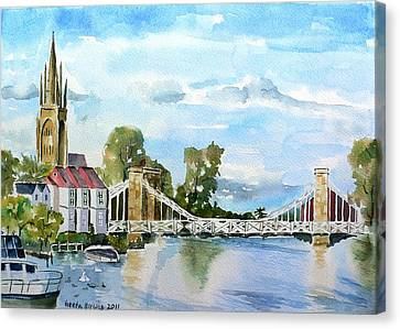 Marlow On Thames 2 Canvas Print by Geeta Biswas